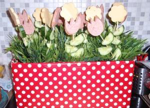 bloem van worst en kaas