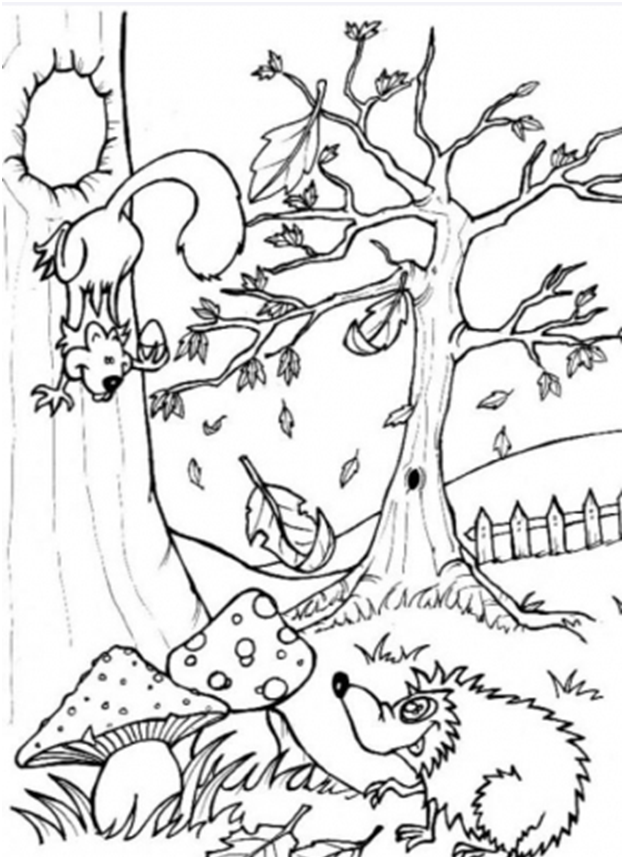 Keuken Inrichten Spel : Woodland Forest Animals Coloring Pages