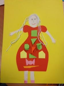 de dame met de jurk