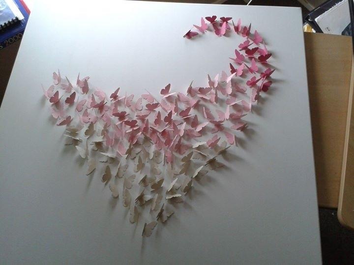 Hart Met Kleine Vlinders Knutselen Enzo